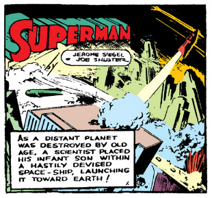 First panel of Action Comics #1